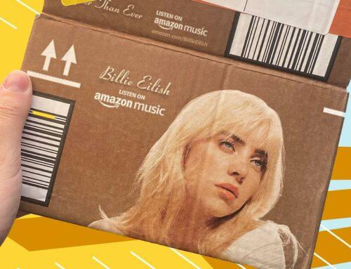 Amazon gebruikt golfkartonnen verzendverpakking als promotiemiddel