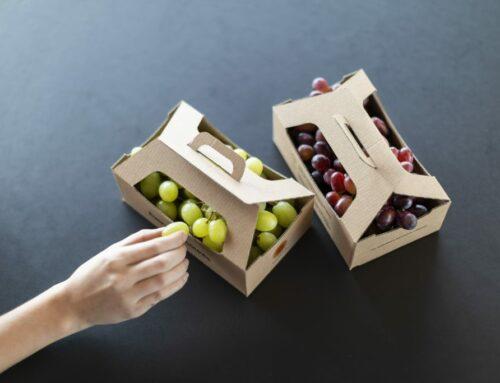 Meer golfkarton in het fruit- en groenteschap